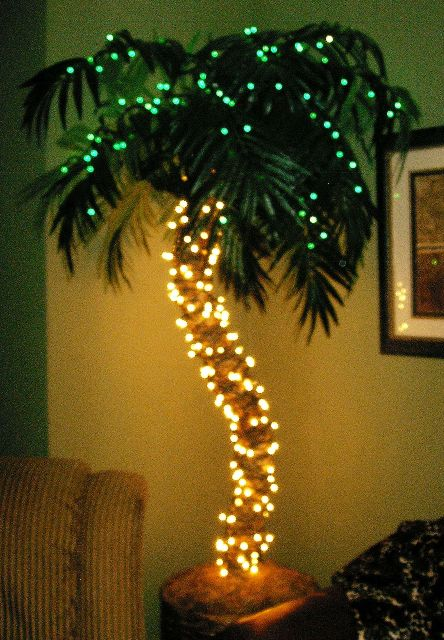 there are even fake palm trees yes - Palm Tree Christmas Tree